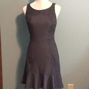 ELLE Gray Fit and Flare Dress